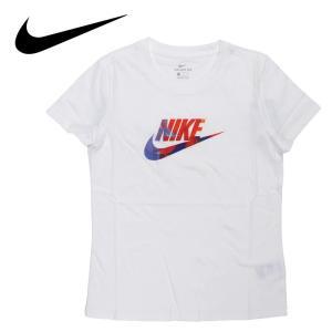 ナイキ 半袖Tシャツ レディース ブランドロゴ コットン ホワイト 白色 NIKE BQ3709|streetbros