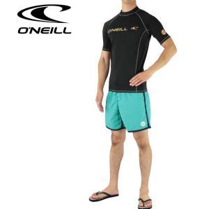 ONEILL ラッシュガード メンズ ブラック 半袖 フード...