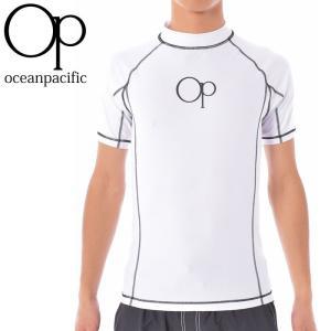 OP オーシャンパシフィック ラッシュガード 半袖 メンズ水着 UVカット プルオーバータイプ|streetbros