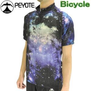 PEYOTE サイクルウェア サイクルジャージ 半袖シャツ ギャラクシープリント 自転車 PT6S-02SJ  おすすめ 販売 人気ブランド ツーリング 通販|streetbros