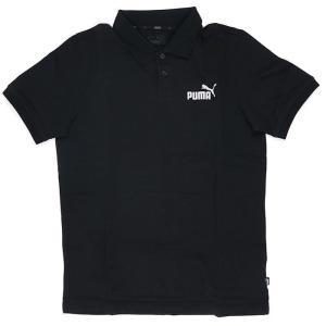 プーマ 半袖 ポロシャツ PUMA レギュラーフィット ワンポイントロゴ ブラック 黒 851759 01|streetbros