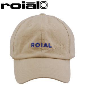 ロイアル 6パネルキャップ ベージュ コットンキャップ 帽子 ロゴ刺繍 CAP streetbros
