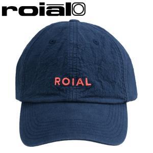 ロイアル コットンキャップ ネイビー 6パネルキャップ ベースボールキャップ ロゴ刺繍 帽子 紺色 CAP streetbros