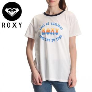 ロキシー レディース 70'S プリント 半袖Tシャツ ROXY カジュアル  紺色 グラフィック風デザイン RST171110 ホワイト おすすめ 贈り物 ギフトプレゼント|streetbros