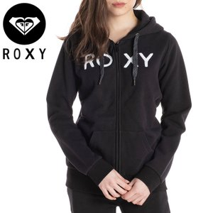 ロキシー レディース ジップアップ パーカー ロゴ ブラック サガラ刺しゅう 平紐 カジュアル ROXY RZP204037|streetbros