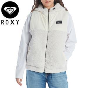 ロキシー ボア ベスト ジャケット カジュアル レディース アウター ホワイト ナチュラル ROXY RZP214052|streetbros