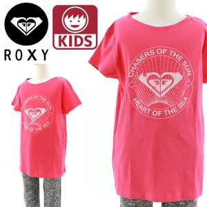 ROXY(ロキシー) キッズTシャツ 130 140 150 ROXYガールズ (RG BASIC CREW CHASER ピンク) 半袖ティーシャツ KIDS SS Tee ピンク PINK 桃色 ぴんく streetbros