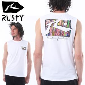 ラスティー ラッシュガード ノースリーブ 水陸両用 サーフィン 水着 速乾Tシャツ RUSTY 919476 ホワイト streetbros