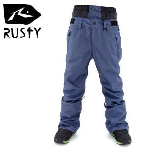 RUSTY 985700 スノボ ウェア スノーボード パンツ メンズ レディース 男女兼用 ボトム 無地 シンプル streetbros