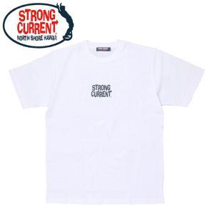 ストロングカレント 半袖 Tシャツ バックプリント メンズ ホワイト  STRONG CURRENT 213SC1ST285|streetbros