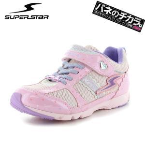 スーパースター キッズスニーカー バネのチカラ 子ども J795 SUPERSTAR 運動靴 ジュニア ピンク 女の子|streetbros