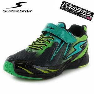 スーパースター キッズスニーカー ブラック バネのチカラ J822 SUPERSTAR 男の子 運動靴 ジュニアシューズ|streetbros