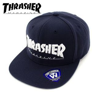 THRASHER(スラッシャー) MAG LOGO CAP 「NVY/WHT」 スナップバックキャップ ネイビー 15TH-C50 streetbros