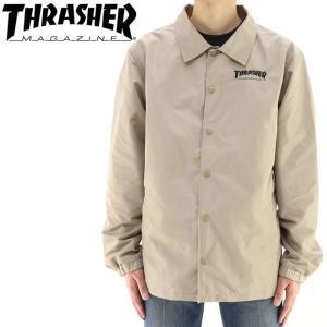 スラッシャー メンズジャケット コーチジャケット バックプリント THRASHER TH5150 streetbros