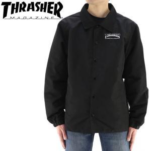 スラッシャー メンズジャケット TH8962 コーチジャケット THRASHER メンズコーチジャケット バックプリント streetbros