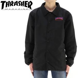 スラッシャー THRASHER コーチジャケット メンズコーチジャケット TH8962 バックプリント メンズジャケット streetbros