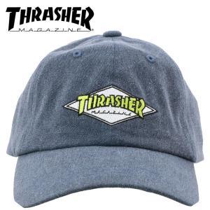 スラッシャー キャップ 帽子 ネイビー 6パネルポロキャップ 紺色 CAP 刺繍 THRASHER 18TH-C05 NVY streetbros