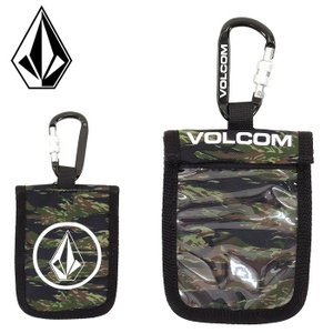 ボルコム パスケース VOLCOM カラビナ付き ICチケット ホルダー