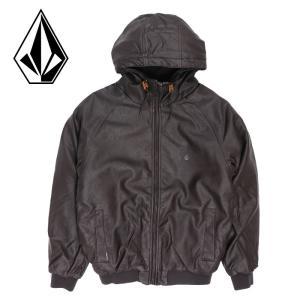 VOLCOM ボルコム メンズジャケット Hernan 100%PU アウター カジュアル ヘビーウェイトジャケット ブラウン|streetbros