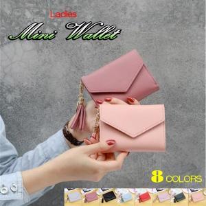 ミニ財布 三つ折り財布 レディース 女性 ミニウォレット 人気 カードケース おしゃれ かわいい シ...