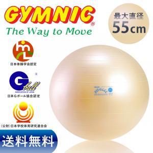 ギムニク フィットボール 55cm パール色 バランスボール...
