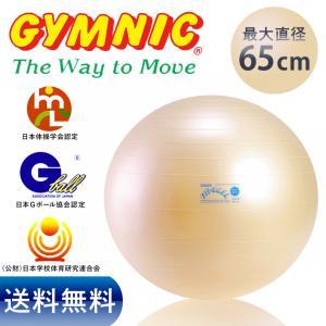 ギムニク フィットボール 65cm パール色 バランスボール...