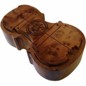 ボガーロ & クレメンテ バイオリン型松脂 ライト 1個 木製ケース入り Bogaro & Clem...
