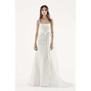 White by Vera Wang Illusion Tank Wedding Dress  ロマ...