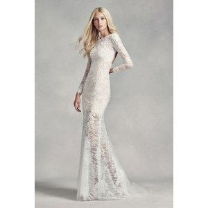 White by Vera Wang Lace and Beads Wedding Dress  透...