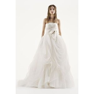 White by Vera Wang Tossed Tulle Wedding Dress  華やか...