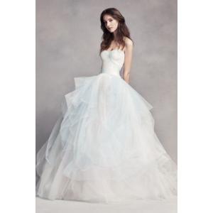 White by Vera Wang Hand Draped Wedding Dress  色の手触...