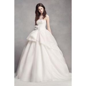 White by Vera Wang Lace Illusion Wedding Dress  ユニ...