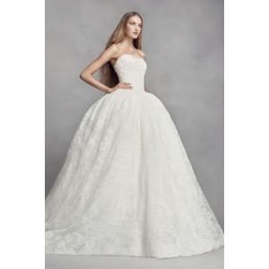 White by Vera Wang Corded Lace Wedding Dress  Vera...