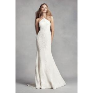 White by Vera Wang Halter Sheath Wedding Dress  ヴェ...