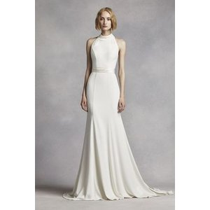 White by Vera Wang High Neck Halter Wedding Dress ...