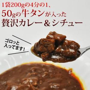 仙台名物 牛タンシチュー 4袋 うまみたっぷり牛タンがゴロっと入った 送料無料 ご飯のお供 stsy 02