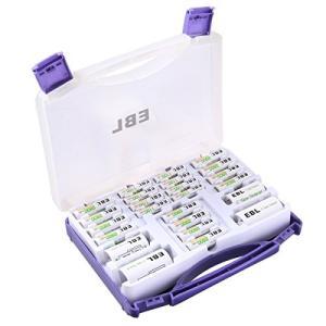 EBL 充電池ファミリーセット 充電式ニッケル水素 単三(2800mAh)*12+単四充電池(110...