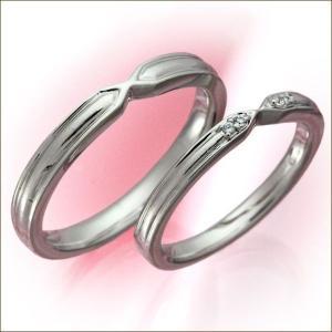 結婚指輪 マリッジリング プラチナ 2本セット 送料無料 ペアリング カップル ペア ダイヤモンド ...