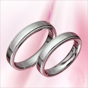 結婚指輪 マリッジリング プラチナ 2本セット 送料無料 ペアリング カップル ペア カットリング ...