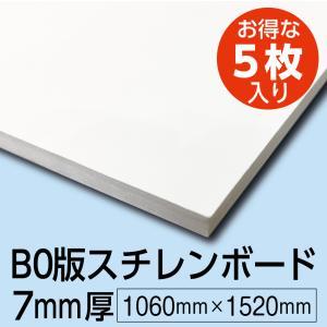 のり付きスチレンボード 7mm厚 1060mm×1520mm 5枚組 cpパネル ウッドラックパネル B0サイズ studio-canda