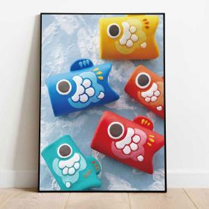 端午の節句 節句 ポスター A1 A0 B0 こいのぼり こどもの日 五月人形 日本 和風 和柄 かわいい おしゃれ 壁掛け デコレーション 省スペース 店舗装飾 studio-canda