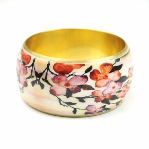 SALE 和花柄 真鍮 バングル 和柄ブレスレット studio-ichi