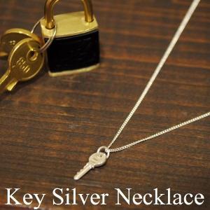 鍵 キー レトロ シルバーネックレス silver925|studio-ichi