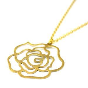 SALE 薔薇柄 真鍮 ネックレス 和柄 メンズ レディース|studio-ichi|02