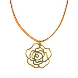 SALE 薔薇柄 真鍮 ネックレス 和柄 メンズ レディース|studio-ichi|03