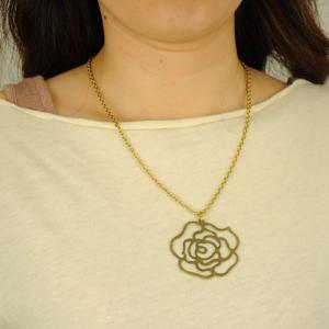 SALE 薔薇柄 真鍮 ネックレス 和柄 メンズ レディース|studio-ichi|04