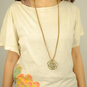 SALE 薔薇柄 真鍮 ネックレス 和柄 メンズ レディース|studio-ichi|05