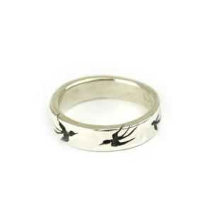 燕 シルバーリング 和柄指輪 メンズ レディース|studio-ichi