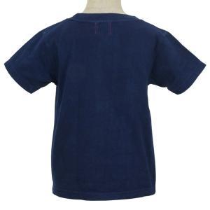 キッズ ベビー 藍染め 半袖 Tシャツ 出産祝い 子供服|studio-ichi|03