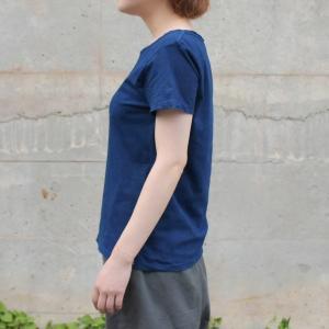 レディース 琉球藍染め 半袖 Tシャツ 薄手 着心地良い カットソー|studio-ichi|02